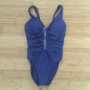 Miracle Suit, One Piece, Navy Blue,Sz12